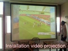 Installation de vidéo-projecteur